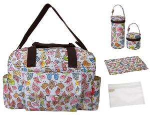 Image 2 - Mommore 5 pièces/ensemble Nappy sacs comprend sac à langer matelas à langer sac de maternité momie transparent sac de poussette bébé étanche
