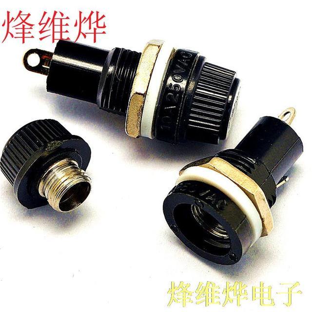 5 * 20 high-quality fuse holder / fuse holder 10A / 250V high temperature ( 200 )