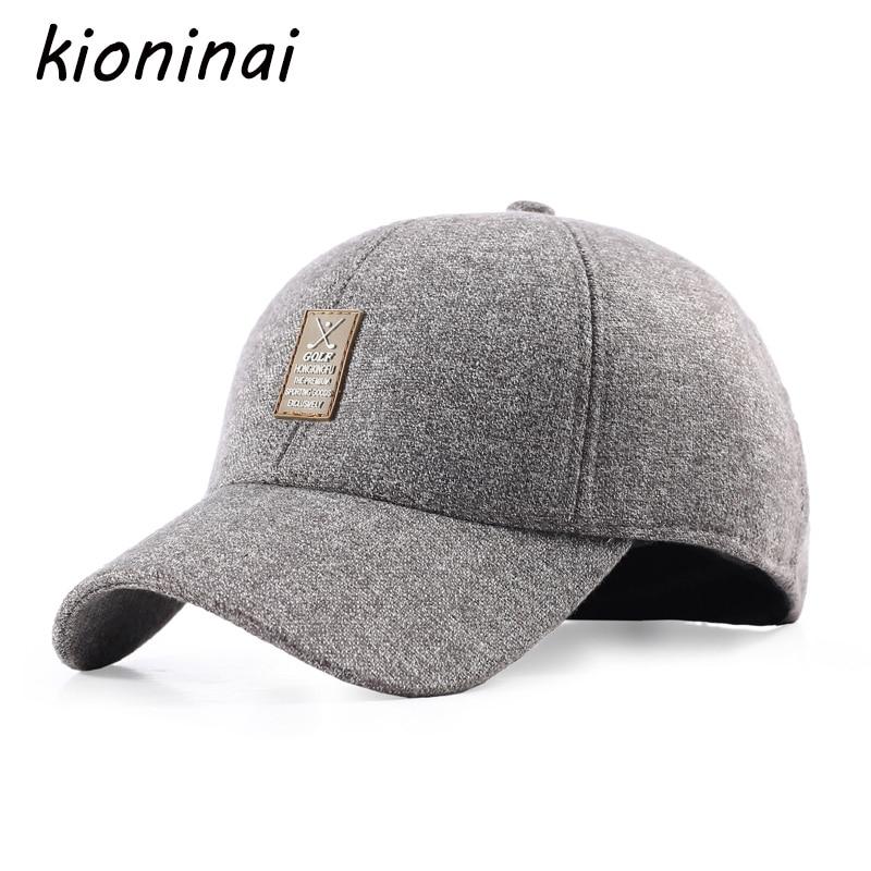 ▻Kioninai invierno Golf SnapBack CAPS gorra de béisbol de lana con ...
