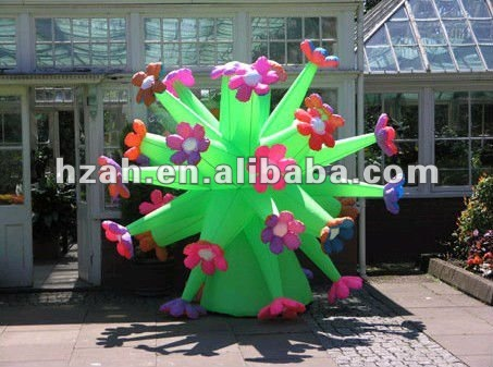 inflatable colorful flower for party decoration party decor inflatable rose flower with light