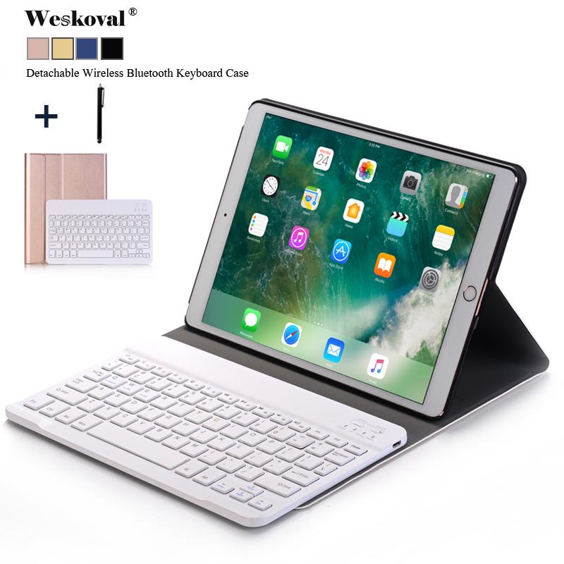 Funda For iPad 2018 Case For iPad Air 2 1 Detachable Wireless Bluetooth Keyboard Coque For iPad 2017 9.7 inch Stand Cover+Stylus new detachable official removable original metal keyboard station stand case cover for samsung ativ smart pc 700t 700t1c xe700t
