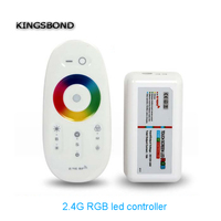 2 4G Wireless Touch Screen RGB Led Controller DC12 24A 18A RF Remote Control For Led