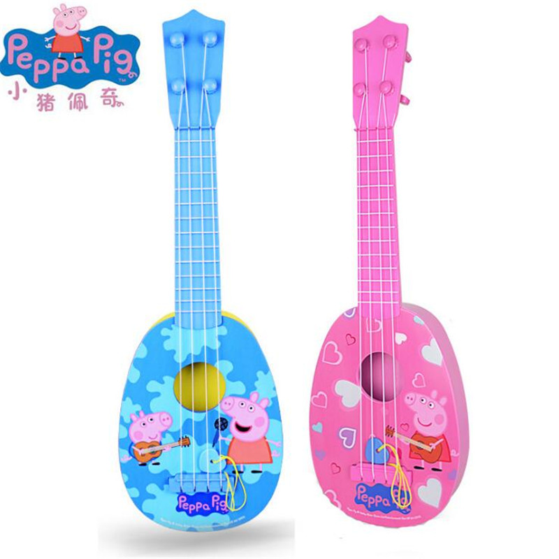 "Peppa pig <font><b>George</b></font> Pig Musical Instruments Toy 44cm/17.3"" Ukulele Guitar Education <font><b>Puzzle</b></font> toys Kids Children For Gifts"