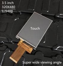 Painel de toque tft, tela lcd de 2.4/2.8/3.2/3.5 polegadas touch screen 40 pinos soquete mcu i8080 8 conector pcb de fio spi 3/4/16bit, visão completa ips