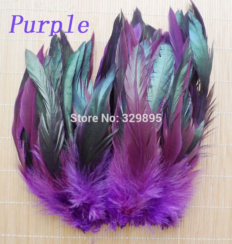 Hotsale! 100pcs 5-8''/12.5-20cm  13 Color s Beautiful Rooster feather  for DIY Wedding Party decoration Pheasant chicke Plume