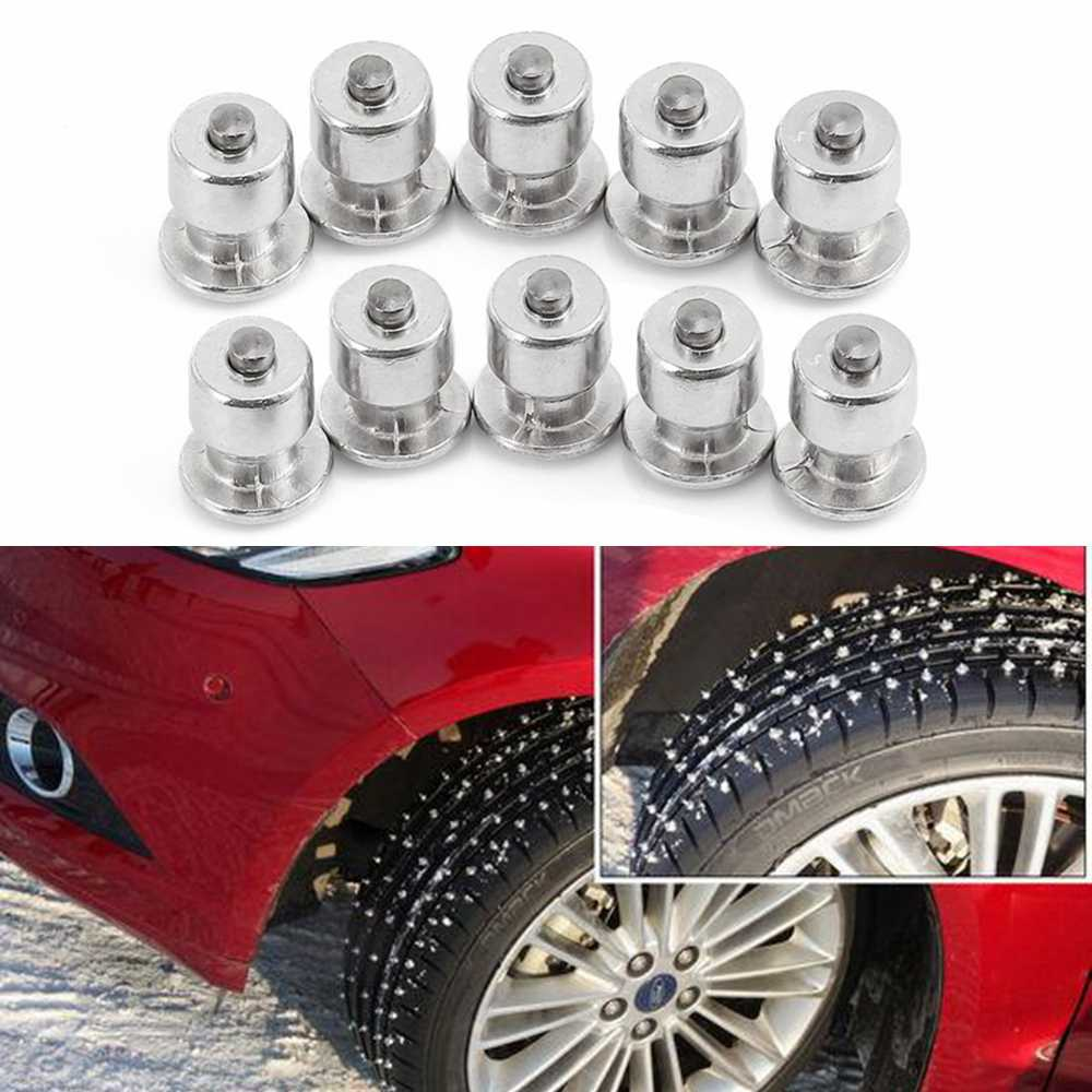 10PCS Tyre Winter Wheel Lugs Screws Snow Spikes Tire Studs Screw Car Styling Spikes Winter Tire Snow Chains Spike Motorcycle