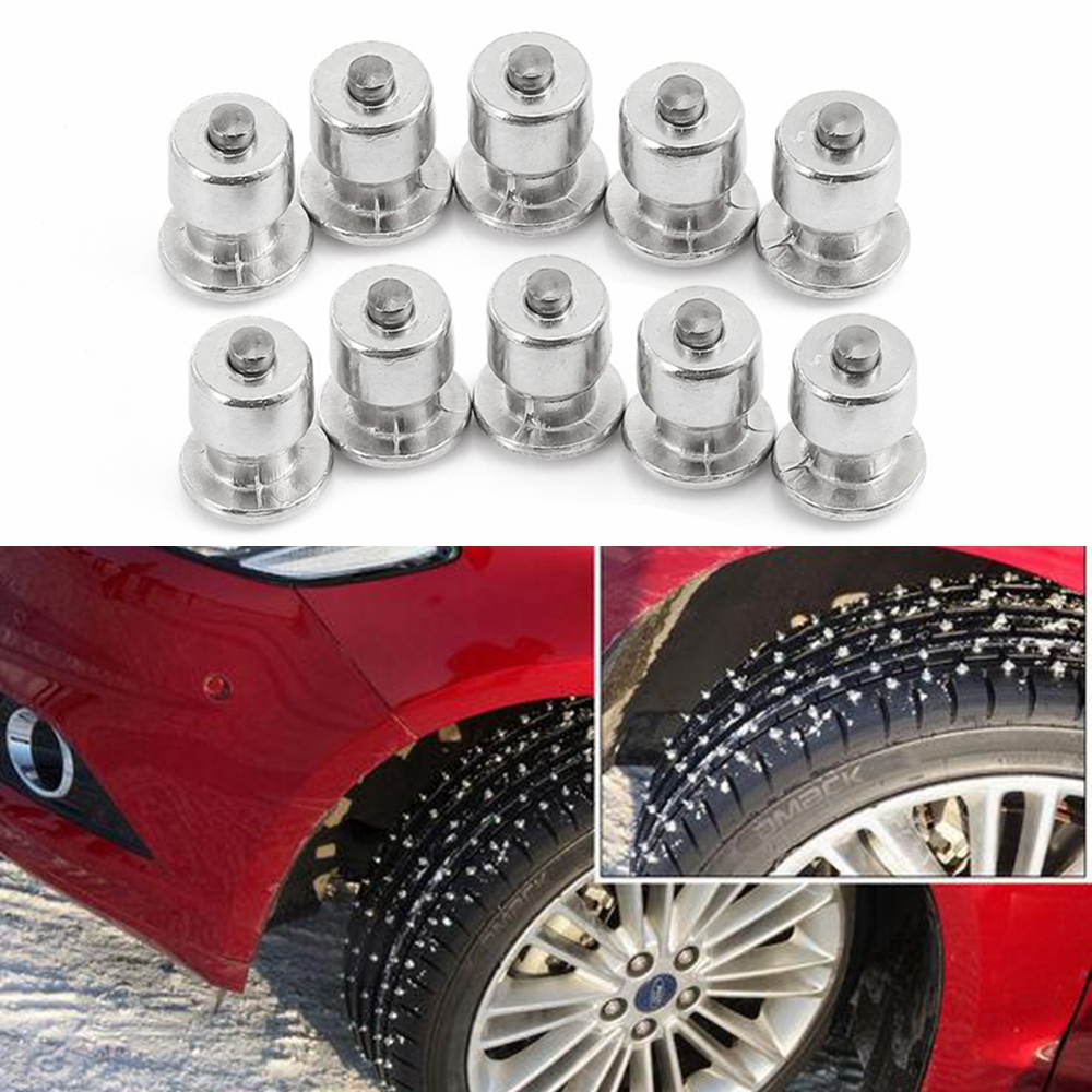 10PCS Tyre Winter Wiel Lugs Schroeven Sneeuw Spikes Band Studs Schroef Auto Styling Spikes Winter Band Sneeuwkettingen Spike motorfiets