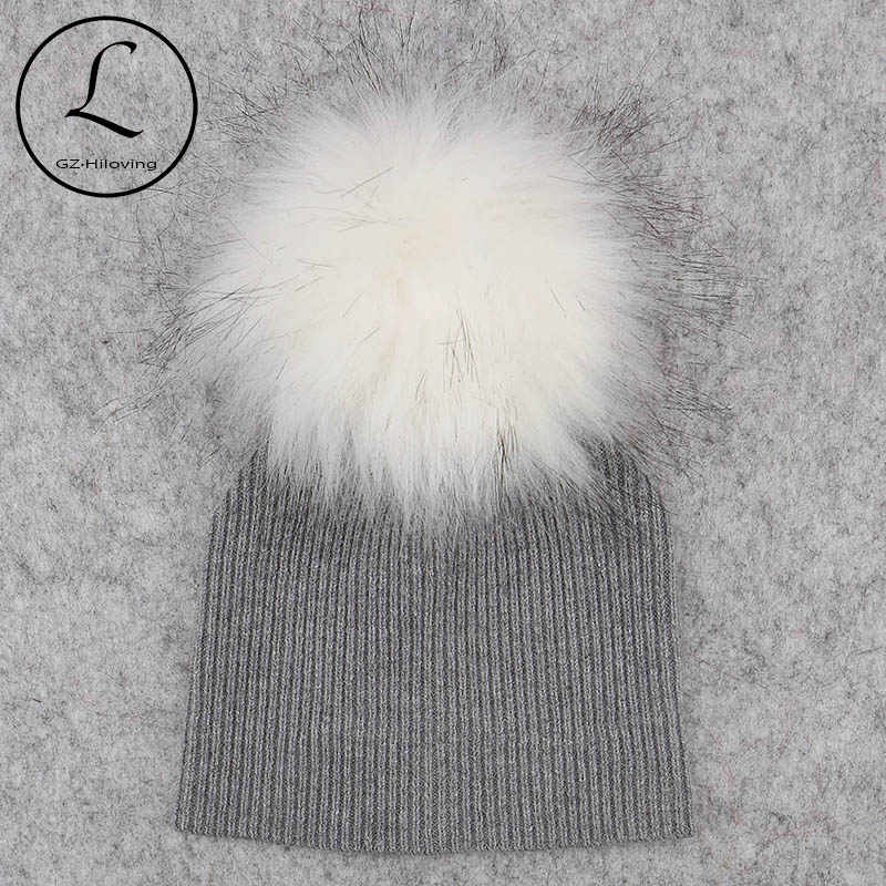224b67aeb47 2018 Hotselling Newborn baby Solid Color Ribbed Beanies hats With Faux fur  pompom New Girls Boys