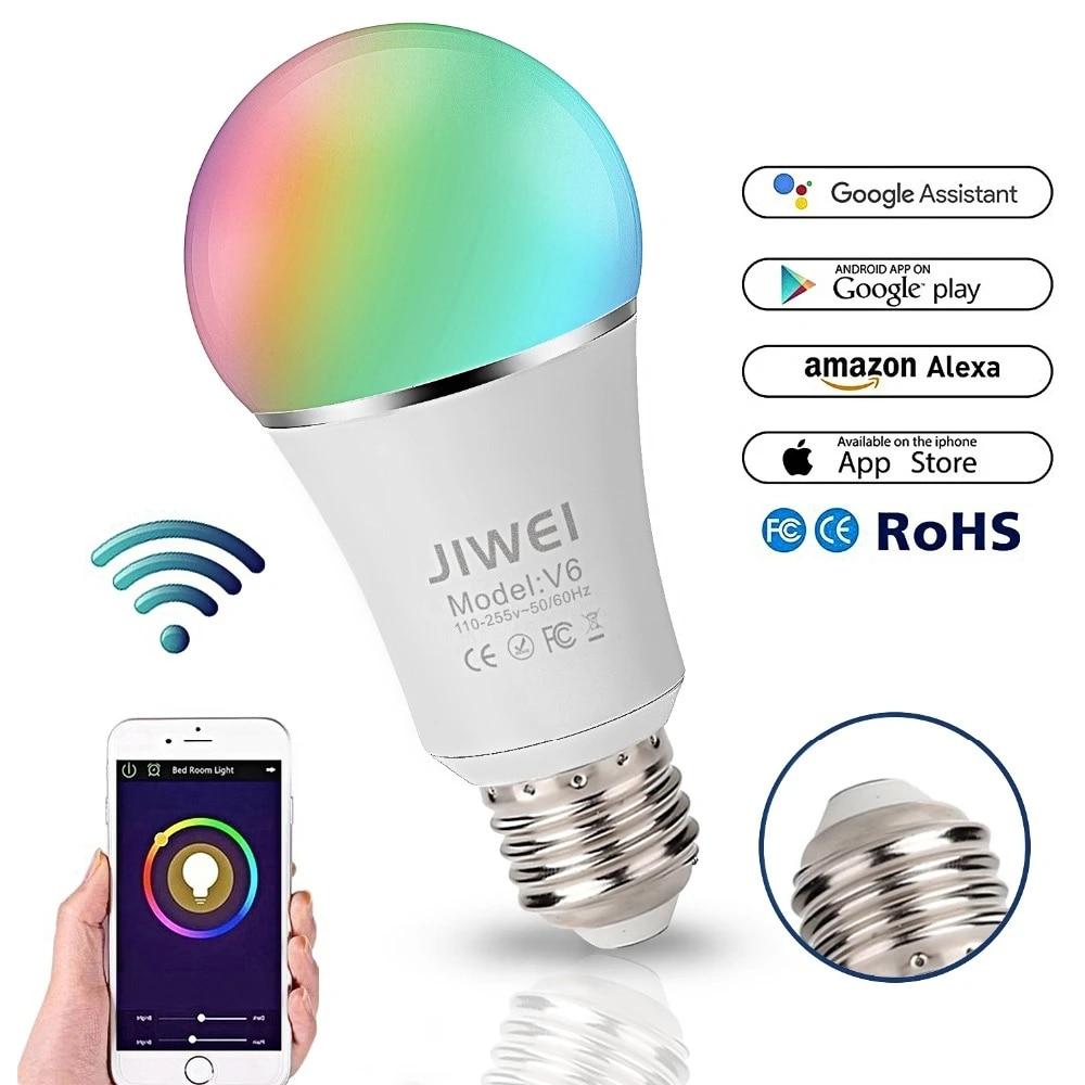 E27 Smart Wifi Bulb Rgb Rgbw Dimmable Led Bulb Light Bulb Works With Alexa Google Home 16 Million Colours App Remote Control Led Bulbs Tubes Aliexpress