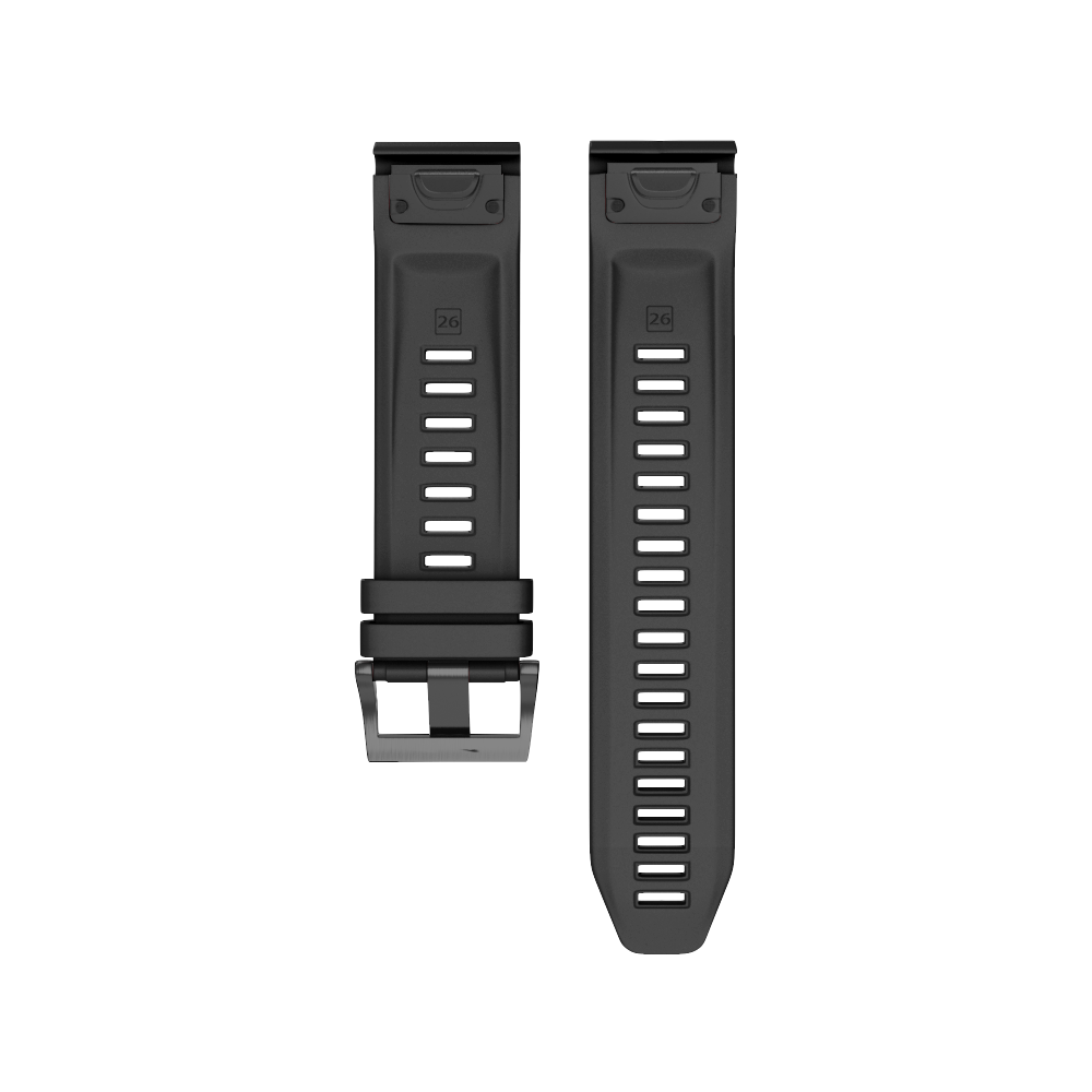 20mm Silicone Watch Band For Garmin Fenix 5S Watch Band Sports Smart Watch Tabby Silicone Watch Belt With Black Buckle in Smart Accessories from Consumer Electronics