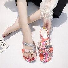 HEE GRAND Summer Flat Slippers Women Canvas Flip Flops Multicolor Female Outside Shoes Girls Comfortable Ladies Footwear XWT1846