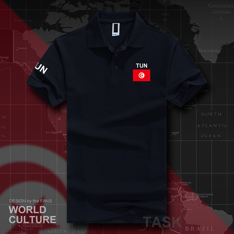 Tunisia Tunisian   polo   shirts men short sleeve white brands printed for country 2017 cotton nation team flag TUN Arabic Tunisie