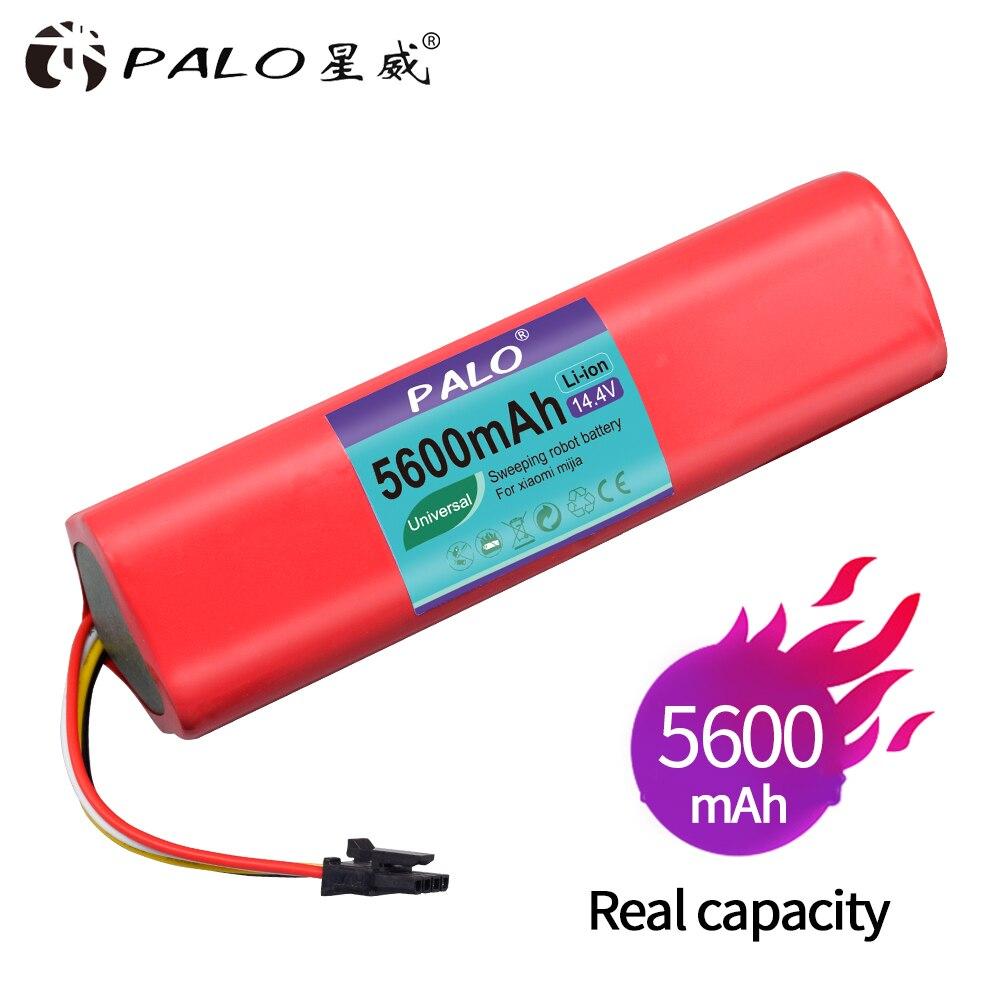 PALO Haute quility Rechargeable pour Xiaomi robot roborock S50 S51 Batterie 14.4 v 5600 mah robot aspirateur accessoires pièces