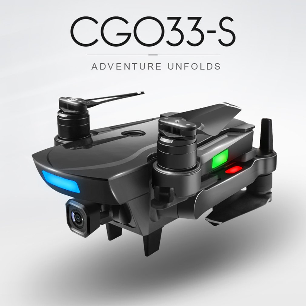 CG033 Brushless FPV Quadcopter With 1080P HD Wifi Gimbal Camera Landing Gear RC Helicopter Foldable Drone GPS Dron Kids Gift