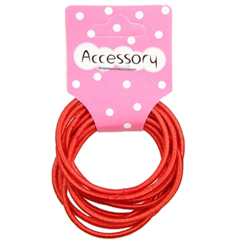 New 50pcs Baby Girl Kids Tiny Hair Accessary Hair Bands Elastic Ties Red
