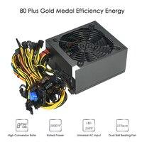 1800 W переключения сервера Питание 87% эффективность компьютер мини лазерная гравировка машины Источники питания для эфириума S9 S7 L3 Rig Bitcoin bitman