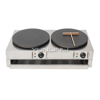 Commercial Electric Crepe Maker Electric Pancake Making Machine Double burner Electric Crepe Making Furnace NP 584