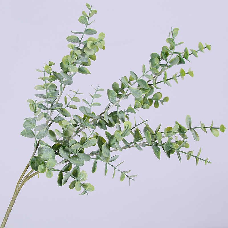 الاصطناعي الكافور المال يترك وهمية النبات الأخضر شجرة فرع ل الزفاف ديكور حديقة المنزل زهرة بالترتيب
