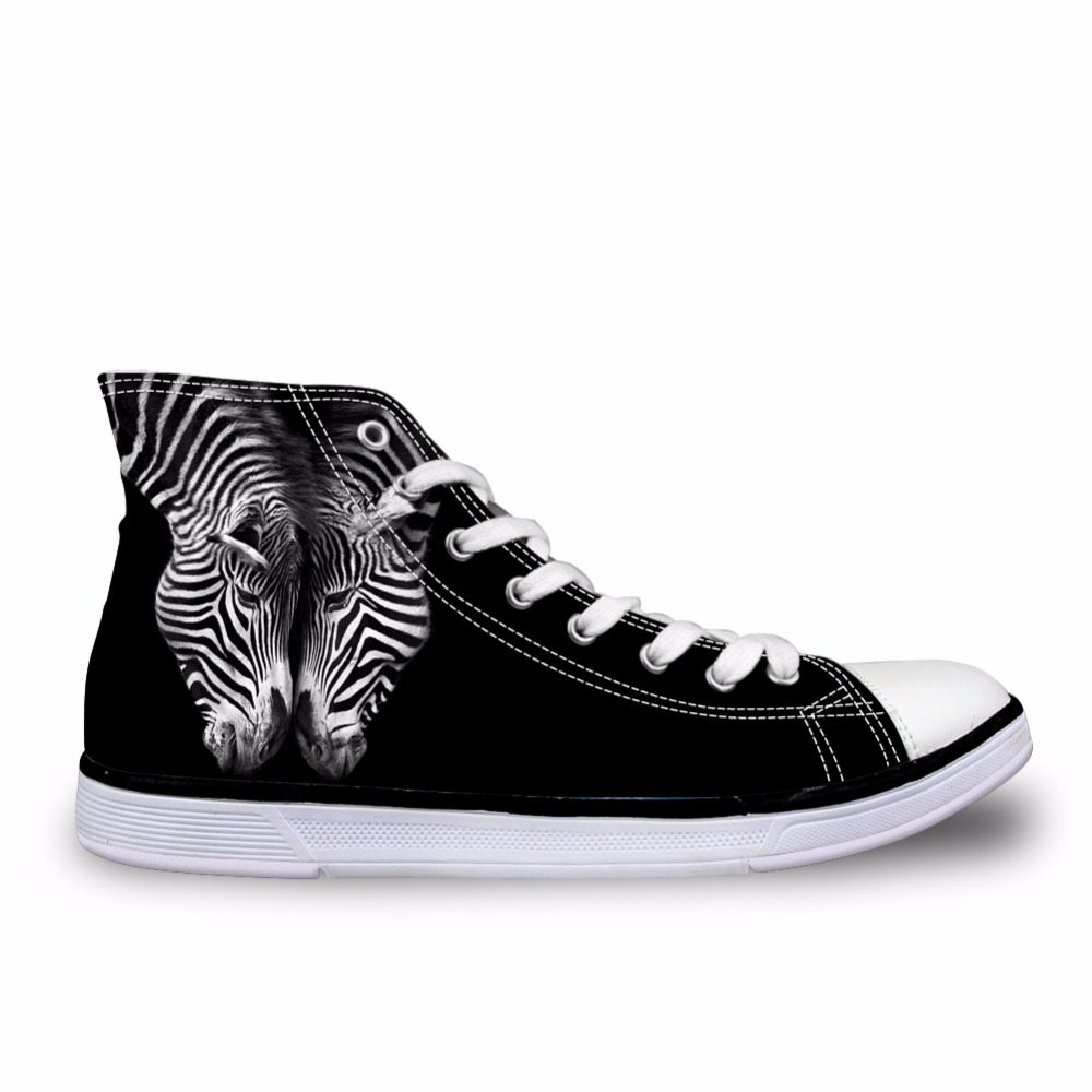 Ca4651ak ak Homens Preto High 3d ca4653ak ca4652ak Impressão Vulcanizada Top Moda Casual Baixos Meninos ca4656ak Up Vintage Sapatos Noisydesigns Da Customized Do ca4655ak Masculinos ca4654ak Tênis Lace Cavalos Zebra OqEIp1w
