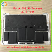 """Full New A1502 Top Case For Macbook Pro 13.3"""" A1502 Topcase Palmrest Top Case with US Keyboard+Trackpad+Battery 2013 2014 Year"""