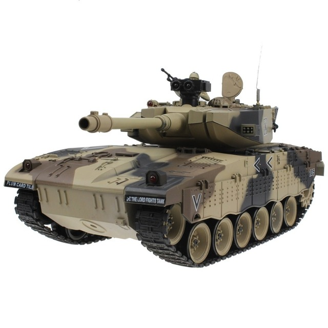 RC Tank Israel Merkava Main Battle Tank 15 Channel 1/20  Model With Shoot Bullet and Sound Recoil Effect Electronic Toy