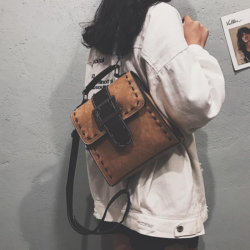 46e8a97f4c4a Купить Женский рюкзак из искусственной кожи, женская модная маленькая  школьная сумка, рюкзак для девочек подростков, винтажные сумки на плечо,  Mochila.