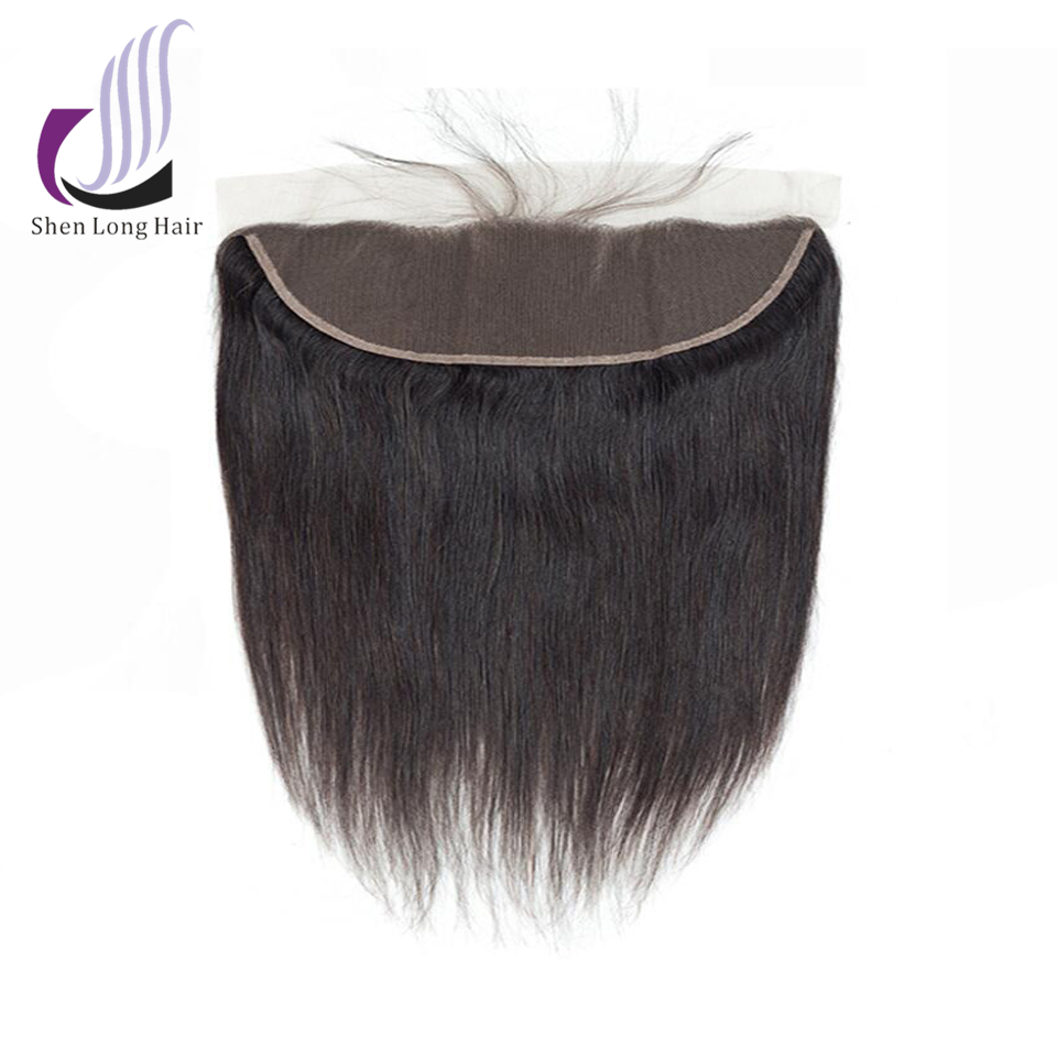 SHENLONG HAIR Peruvian Straight 1 Pcs 13*4 Lace Frontal Closure Non Remy 100% Human Hair Extensions 8-20 Inch Natural Color