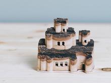 DIY Wooden Doll House Castle Building Blocks Children Handcraft Miniature Projec Kit Manual Assembly 3D Model Handicraft toy