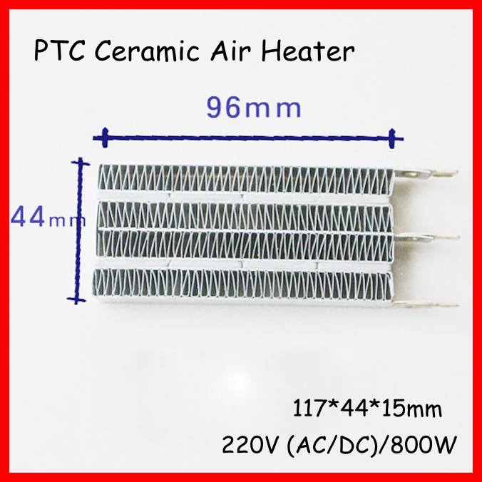 (1 piece/lot) 220V 800W 116x44x15mm PTC Ceramic Air Electric Heater Plate With Insulating Film Mini Heating Element Chips dia 400mm 900w 120v 3m ntc 100k round tank silicone heater huge 3d printer build plate heated bed electric heating plate element