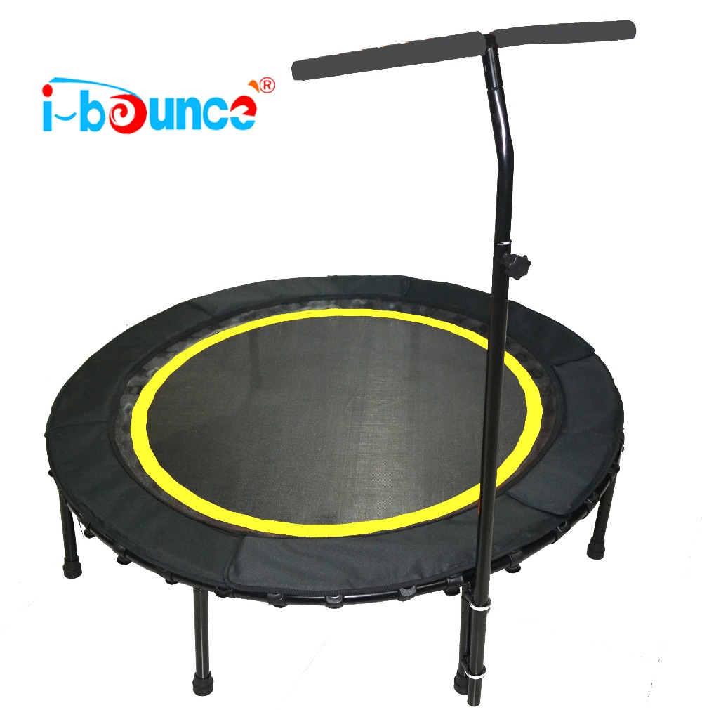 Mini Trampoline rebounder with protecting pad handrail 48inch hexagonal jumping fitness trampoline with handrail