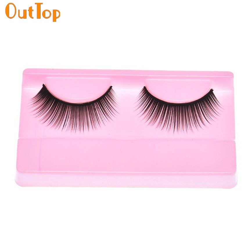 OutTop Love Beauty Female 1 Pair Beauty Makeup Natural Long Dense False Eyelashes HOT Eye Lashes 160920 Drop Shipping