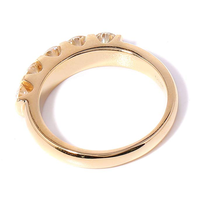 TransGems Classic Solid 14K 585 Yellow Gold 1.25CTW 4MM F Color - Fine Jewelry - Photo 3