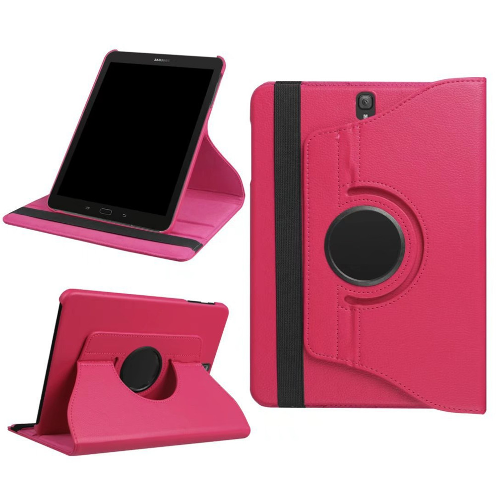 PU Leather Folding Folio Flip Case 360 Degree Rotating Stand Protective Cover For Samsung Galaxy Tab S3 9.7