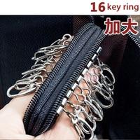 Fashion Car Key Wallets Bag Genuine Leather Double Zipper Black Brown Key Holder For Women Men Purses Pouch Key Case Bag