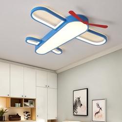 Pokój dziecięcy cartoon światła led po nowoczesne minimalistyczny kreatywny w kształcie okrągłe samolot chłopiec lampa sufitowa WF612304|Oświetlenie sufitowe|   -