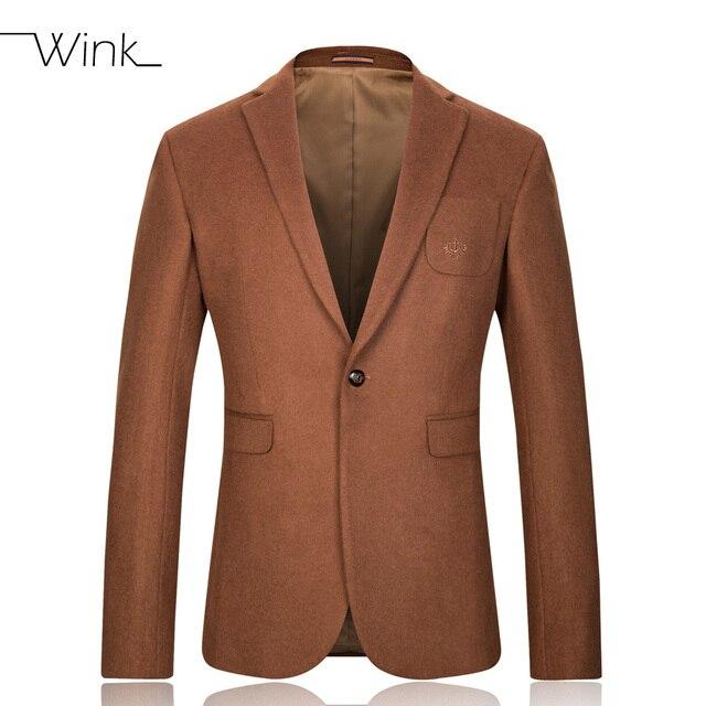 Chaqueta Casual Para Hombres de La Marca de Moda Slim Fit Chaquetas de Traje de Vestir de Negocios de Alta Calidad de Lana de Cachemira Masculina de Lujo Vestidos E208
