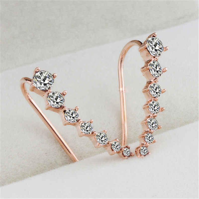 08fc6b56b ... Top Quality New Four-Prong Setting 7pcs CZ Crystal Gold Ear Hook Stud  Earrings Jewelry ...