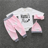 2017 New Baby Clothing Set Boys Girls Rompers Christmas Cartoon Baby Infant Suit Long Sleeve Romper