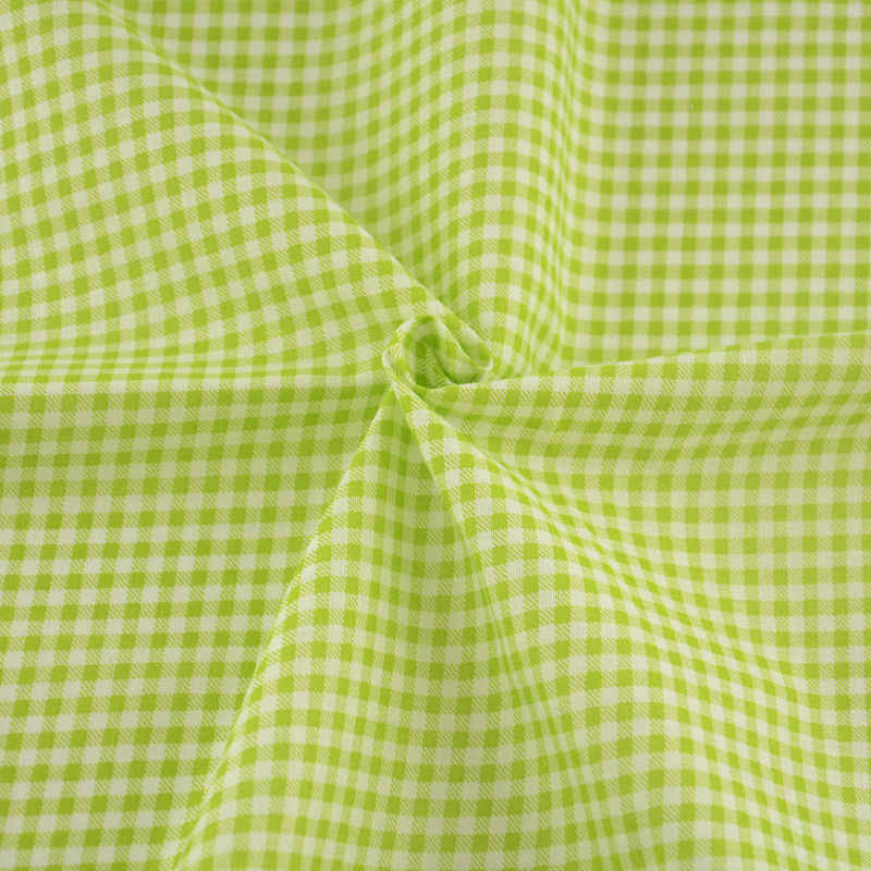 Light Green and White Check Fabrics Design Textile Sewing Cloth 100% Cotton Tecido Fat Quarter Tissue Patchwork Plain Art Work