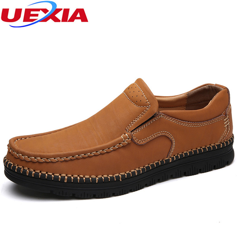 Brand Men Shoes Handmade High Quality Leather Slip On Comfort Business Man Casual Flats Shoes Sewing Moccasins Zapatos Hombre hot high quality men loafers leather round toe slip on casual shoes man flats driving shoes hombre zapatos comfortable moccasins