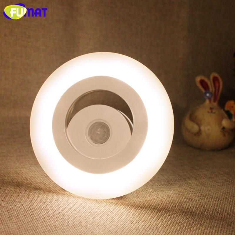 Fumat Smart Sensor LED Night Light Indoor Auto Sensor Smart Lamp Wall Sconce Cabinet Light 8pcs LED Lamp Warm white/White