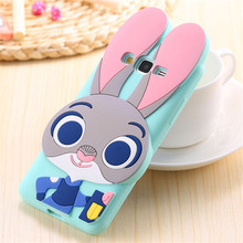 For Samsung Galaxy J1 J1Ace J5 J7 A5 E5 A7 E7 Back Cover Cute 3D Zootopia Rabbit Judy Cartoon Capa Soft Silicone Phone Cases