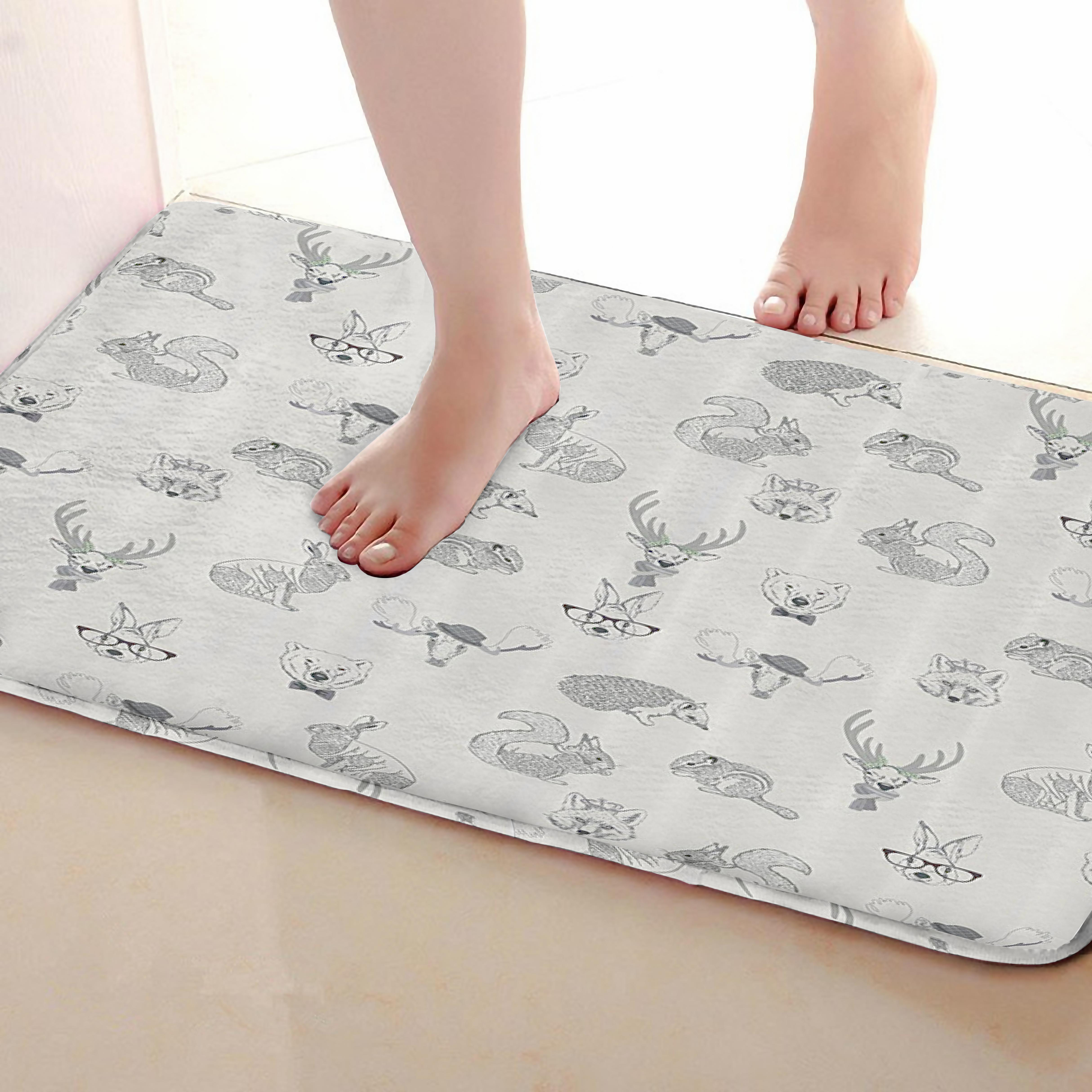 Animal Style Bathroom Mat,Funny Anti Skid Bath Mat,Shower Curtains Accessories,Matching Your Shower Curtain