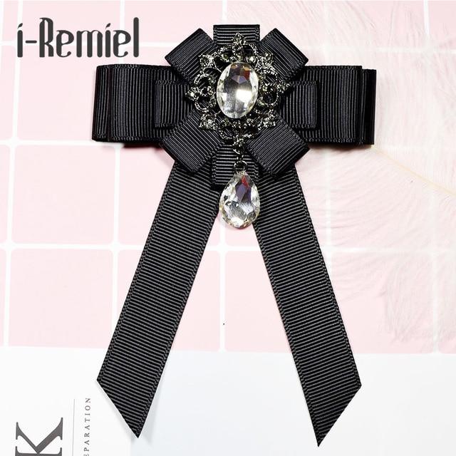 Я-Remiel ленты лук брошь галстук полноценно Цветочные Броши Pin бантом бабочкой черный корсаж Broche для Для мужчин ремесла букет Свадебный