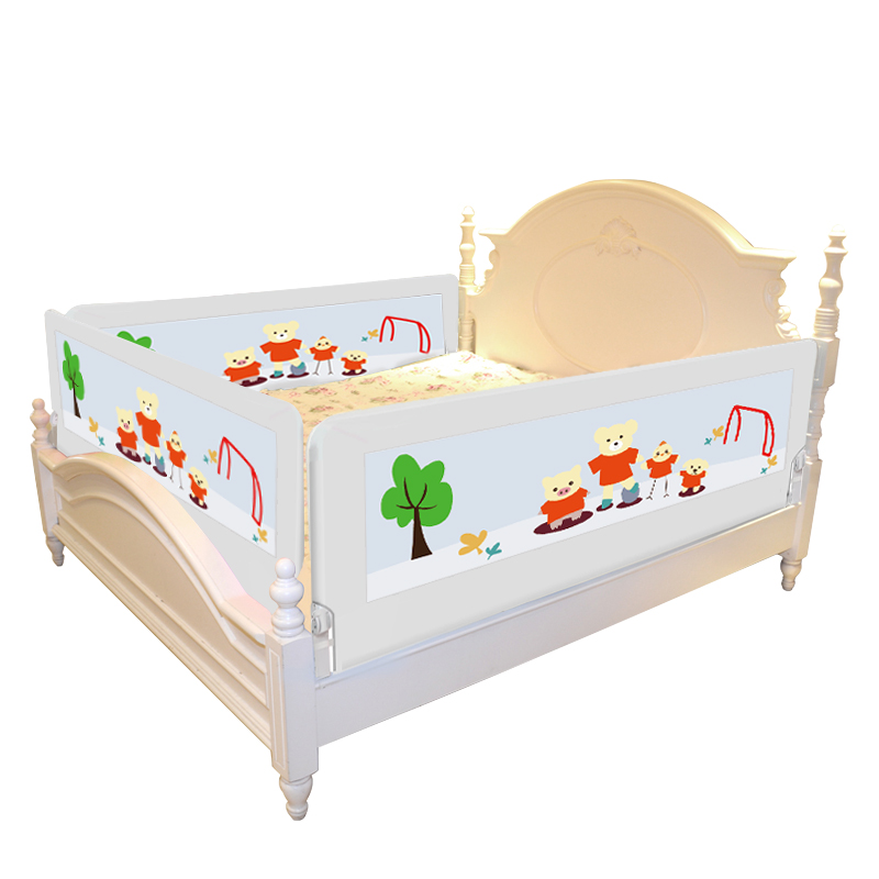 Crib Fence, Baby Bed Guardrail 1.5, Child Fall Prevention, 1.8-2 Meters Large Bed, Bar Baffle, General Purpose promotion 6pcs baby bedding set cot crib bedding set baby bed baby cot sets include 4bumpers sheet pillow