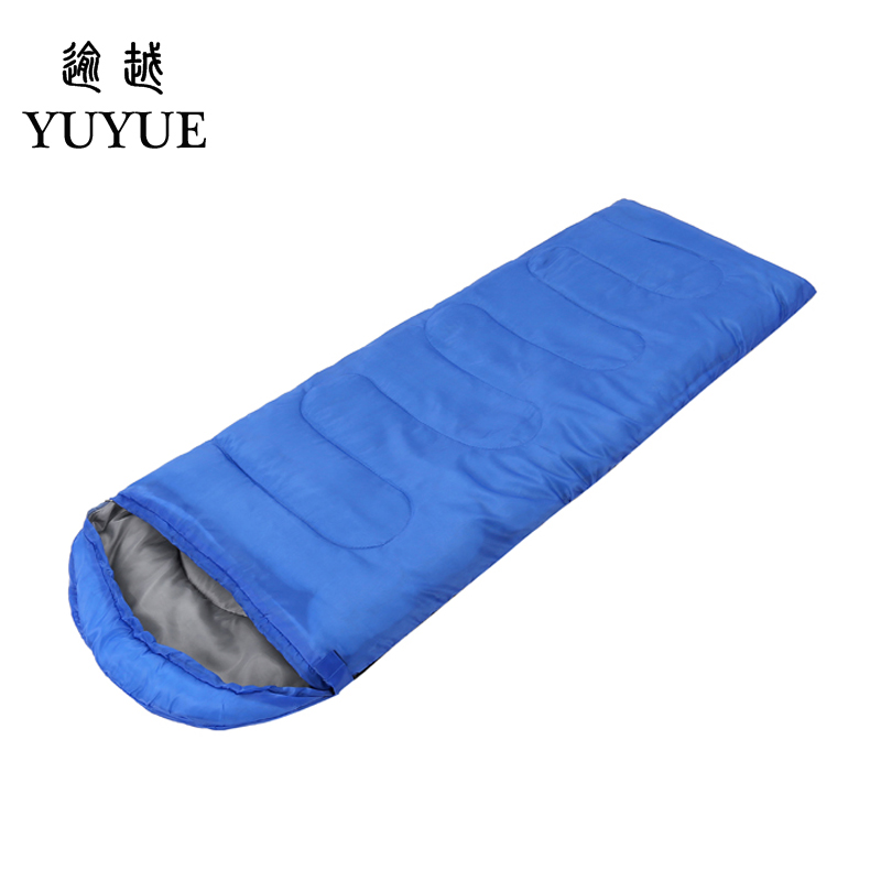 Outdoor 3 season adult cotton sleeping bag cotton for camping tent with envelope type customized sleeping bag cheap sleeping bag 0