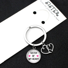 Sister of My Heart Best Friends Keychain Handcuffs Compass Moon Keychains Infinity Key Chain KeyRing Women Men Jewelry