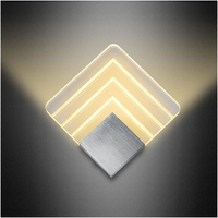 Small Acrylic Metal Nordic Bedroom Wall Lamp Led Light Bathroom Mirror Wall Light Kitchen Modern Design Bedside Reading Lamp