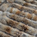Tamaño grande 100% Natural Real del Mapache Bufanda de Cuello de Piel Para Las Mujeres Abrigo de invierno Cálido Cuello de Piel Genuina Bufandas 65 cm 75 cm 80 cm