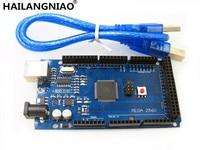 Free Shiping 5set LOT Mega 2560 R3 CH340G ATmega2560 AVR USB Board Free USB Cable X